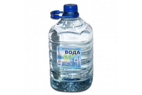 Вода дистилированная техническая 5л