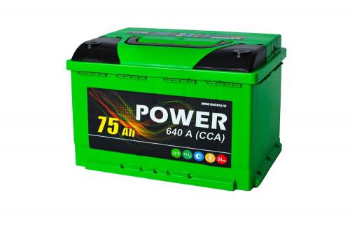 АКБ POWER 75Аз А/ч евро